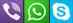 whatsapp viber skype